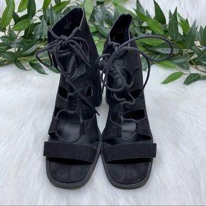 ASOS Shoes - ASOS Ghillie Gladiator Bock Heel Ankle Bootie 7